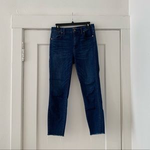 "Madewell '10"" high riser skinny skinny' jeans"